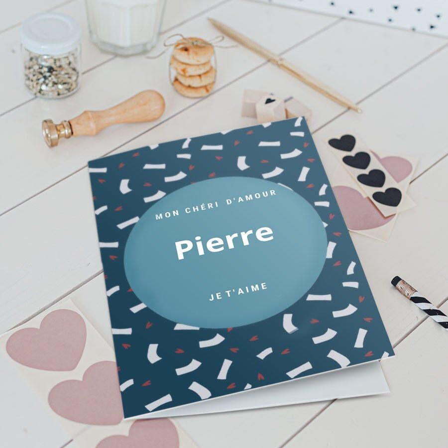 YourSurprise Carte de Saint-Valentin - XL - Portrait