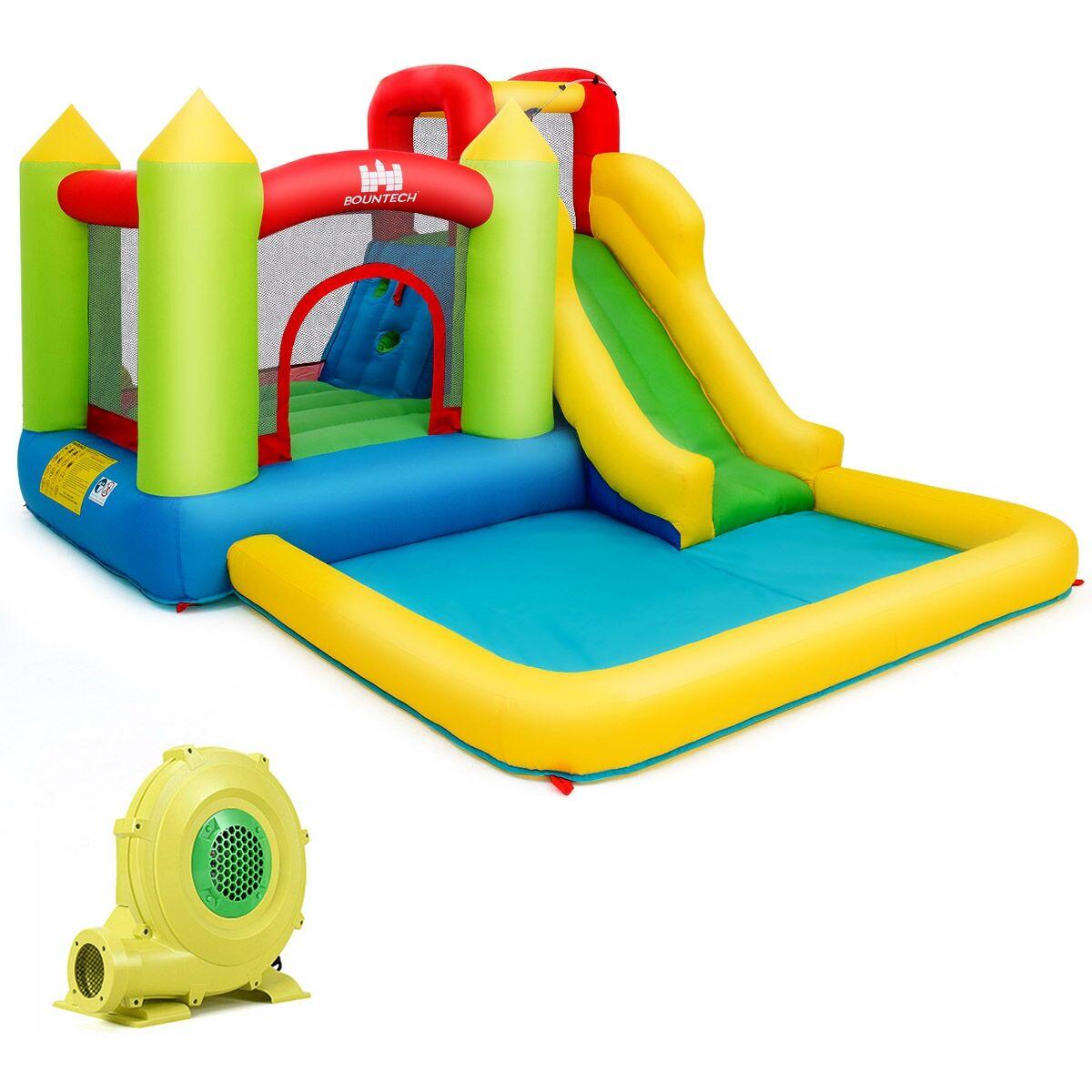 Costway Château Gonflable pour Enfants de 3 à 10 Ans Max 135KG Aires de Jeux Multiples