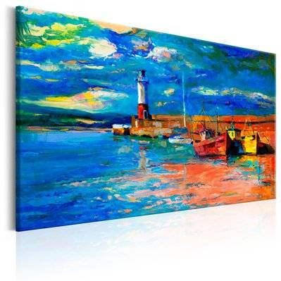 Artgeist 90x60 - Tableau - Seaside Landscape: The Lighthouse