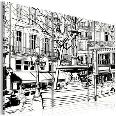 Artgeist 90x60 - Tableau - Esquisse de la place parisienne