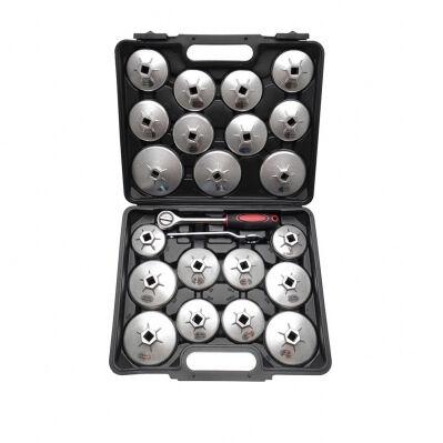 Kraftmann Jeu de clés à filtres en fonte d'alu KRAFTMANN - 23 pièces