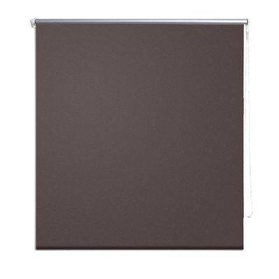 Helloshop26 Store enrouleur marron occultant 80 x 175 cm fenêtre rideau pare-vue volet roulant 4102004