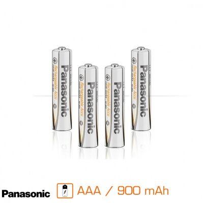 Panasonic Pack de 4 piles rechargeables AAA - 900 mAh