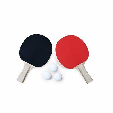 Alice's Garden Lot de 2 raquettes et 3 balles pour table de Ping-Pong