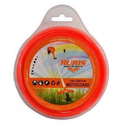 Ruris Fil débroussailleuse et multifonction 3,0mm x 15M rond Ruris 6-177