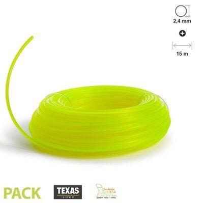 Texas Fil pour rotofil et coupe bordure fluo rond 2,4 mm TEXAS