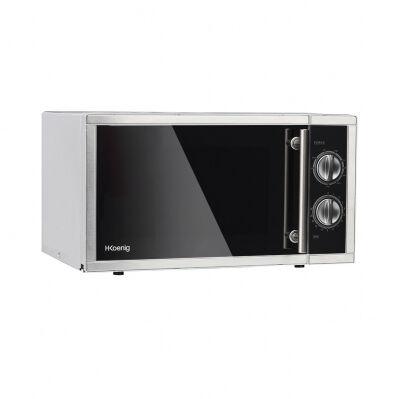 H.koenig Micro-ondes & grill 1000W - plaque Ø27cm - 9 cuissons - noir & inox