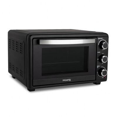 H.koenig Four compact électrique 1500 W - 25L - max. 230°C - 4 cuissons + accessoires - noir