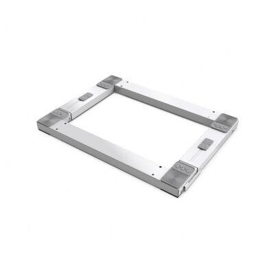 Meliconi Support mobile anti-vibrations - appareils ménagers - 60 x 60/45 cm - blanc