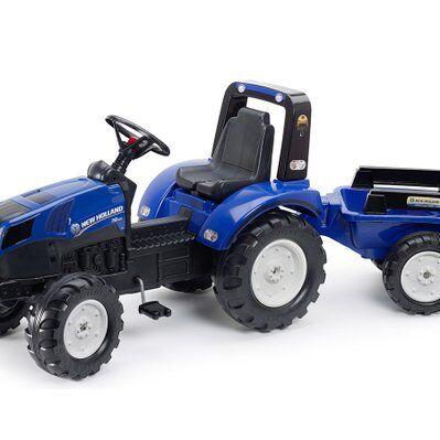 Falk Tracteur enfant New Holland T8 + remorque