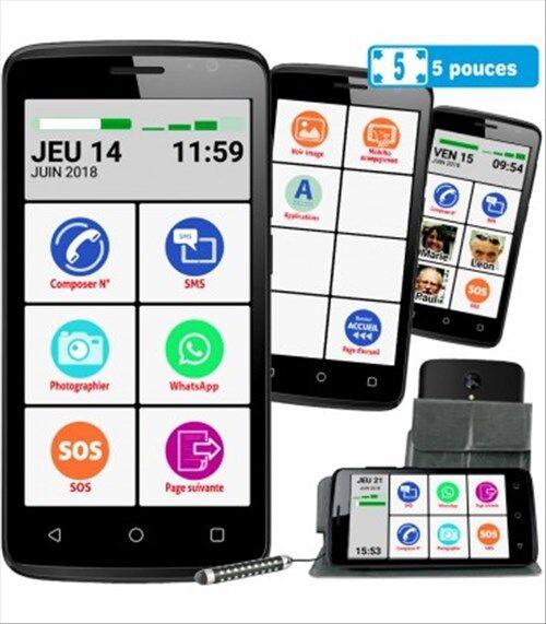 Careserve Smartphone Mobiho Essentiel - Smart initial 5 pouces