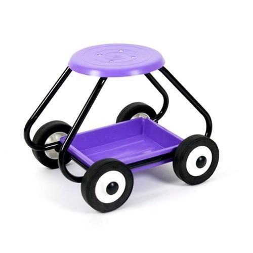 Careserve Tabouret de jardin avec roues - Violet