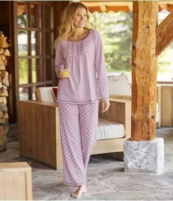 Atlas for Men Pyjama Fantaisie Lilas L violet
