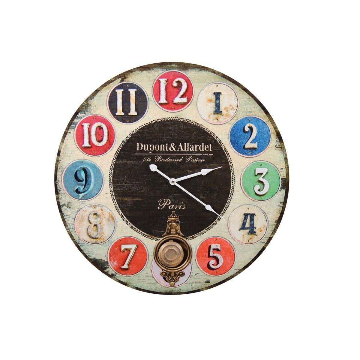 Horloge Ancienne Balancier Dupont & Allardet 58cm - Bois - Multicolore