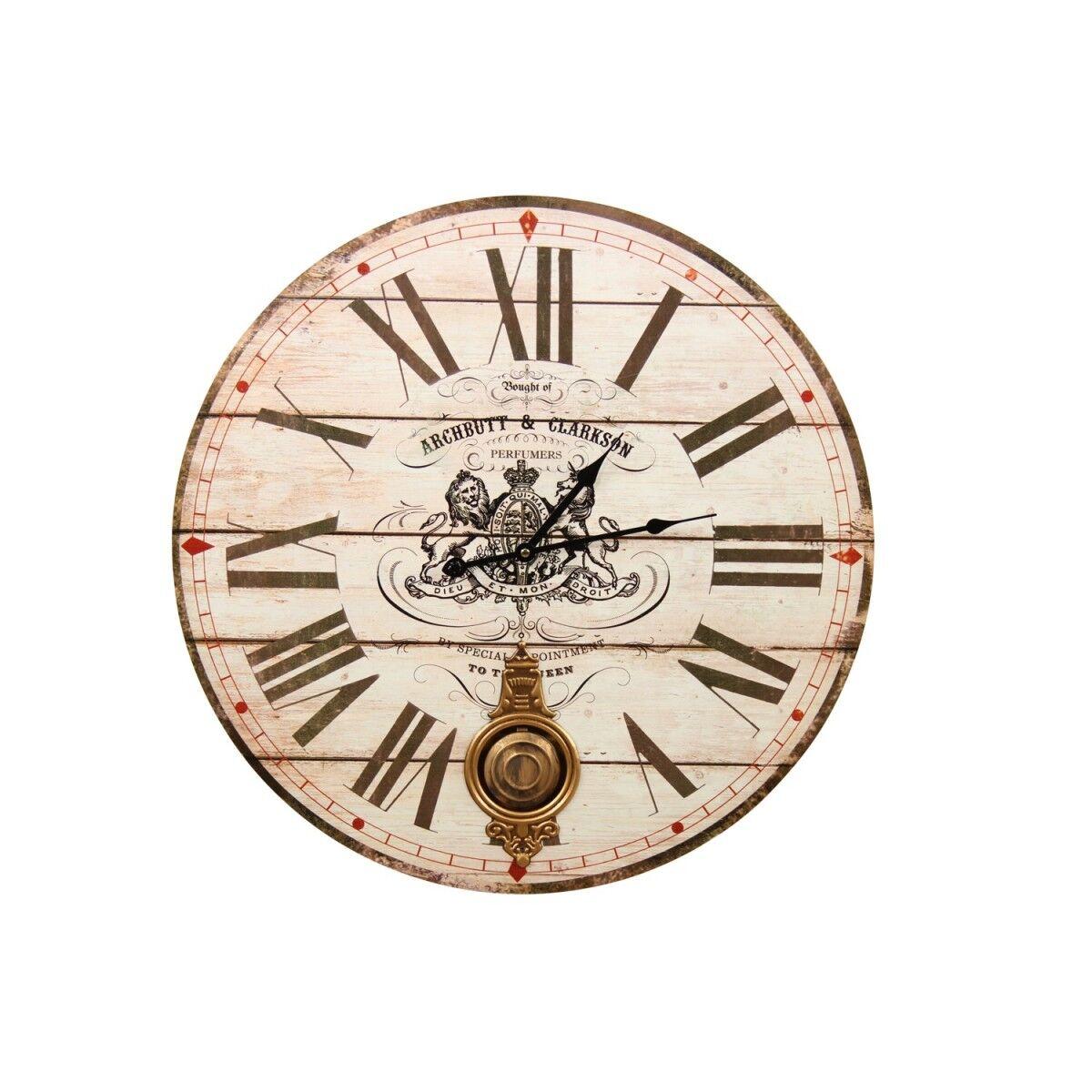 Horloge Ancienne Balancier Archbutt & Clarkson 58cm - Bois - Blanc
