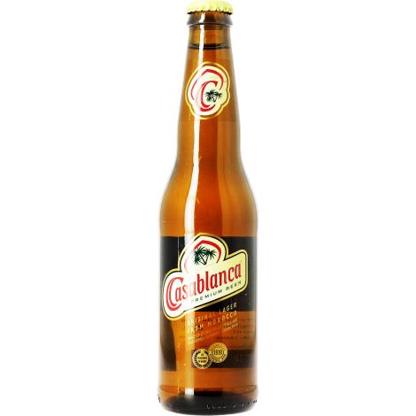 Brasseries du Maroc Casablanca - Bouteilles De Bière 33 Cl - Brasseries Du Maroc - Saveur Bière