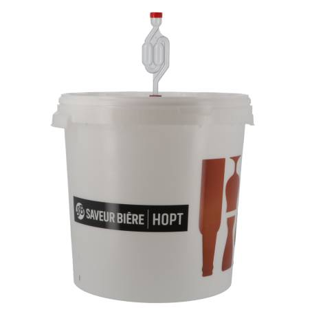 Saveur Bière Seau De Fermentation Gradué 30L Saveur-Bière Sans Robinet Avec Couvercle Perforé   Saveur Bière