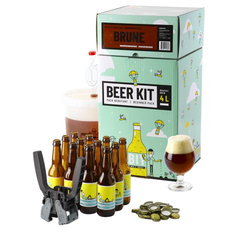 Saveur Bière Beer Kit Débutant Complet Bière Brune   Saveur Bière