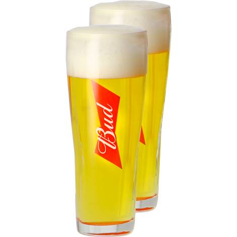 Budweiser Pack 2 Verres Bud - 33 Cl   Budweiser   Saveur Bière