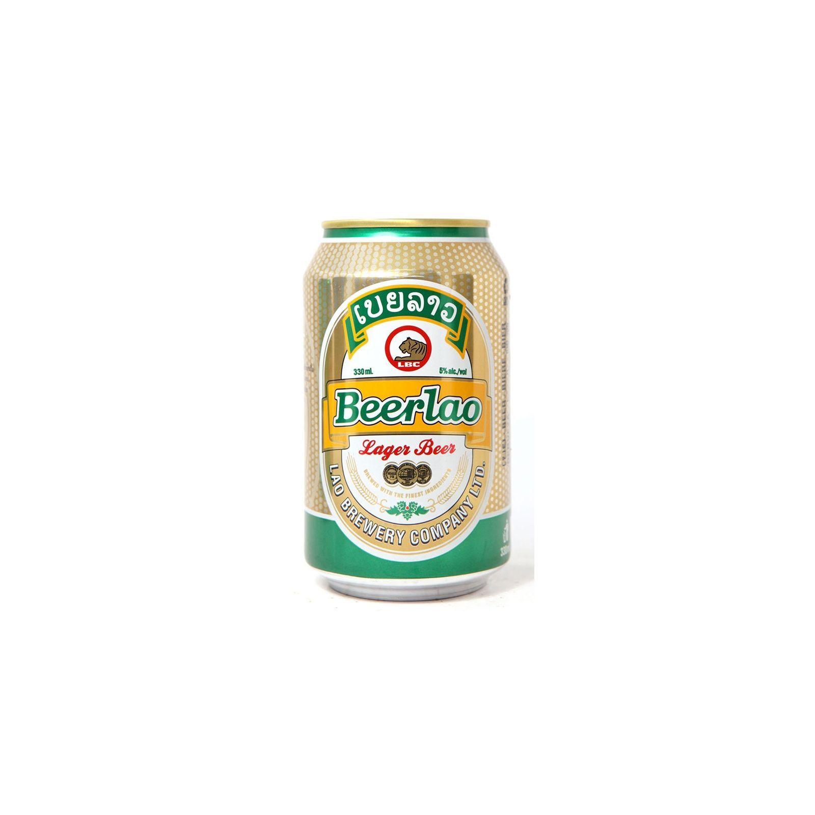 Asia Marché Bière Laotienne Beerlao 33cl canette (5°)