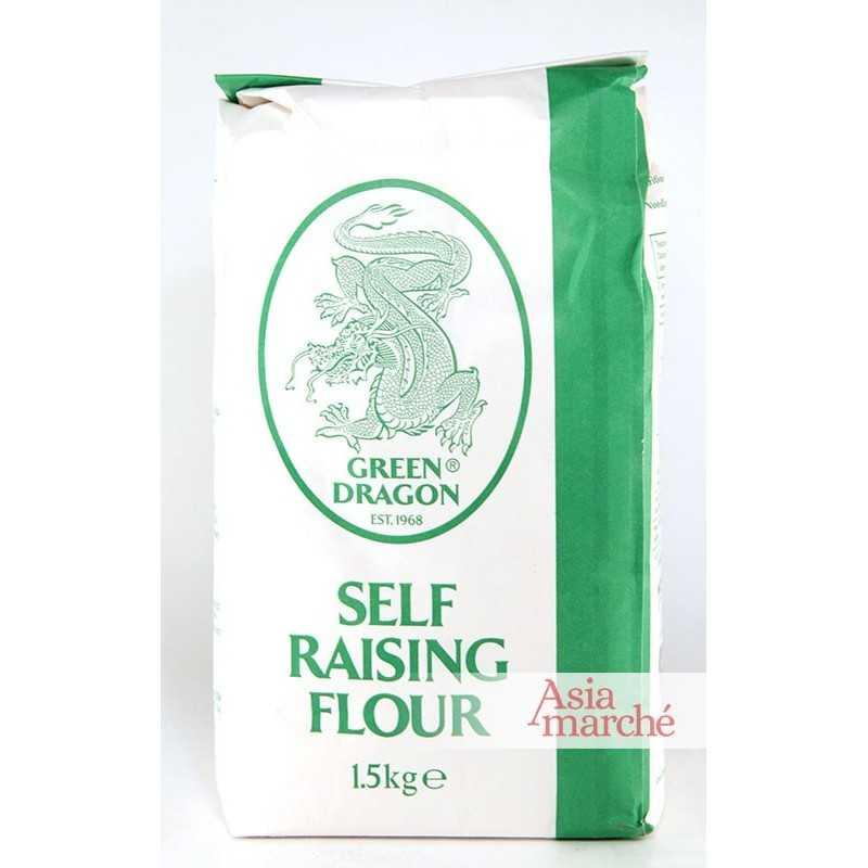 Asia Marché Farine avec levure incorporée 1,5kg Green Dragon ou Golden Orchid