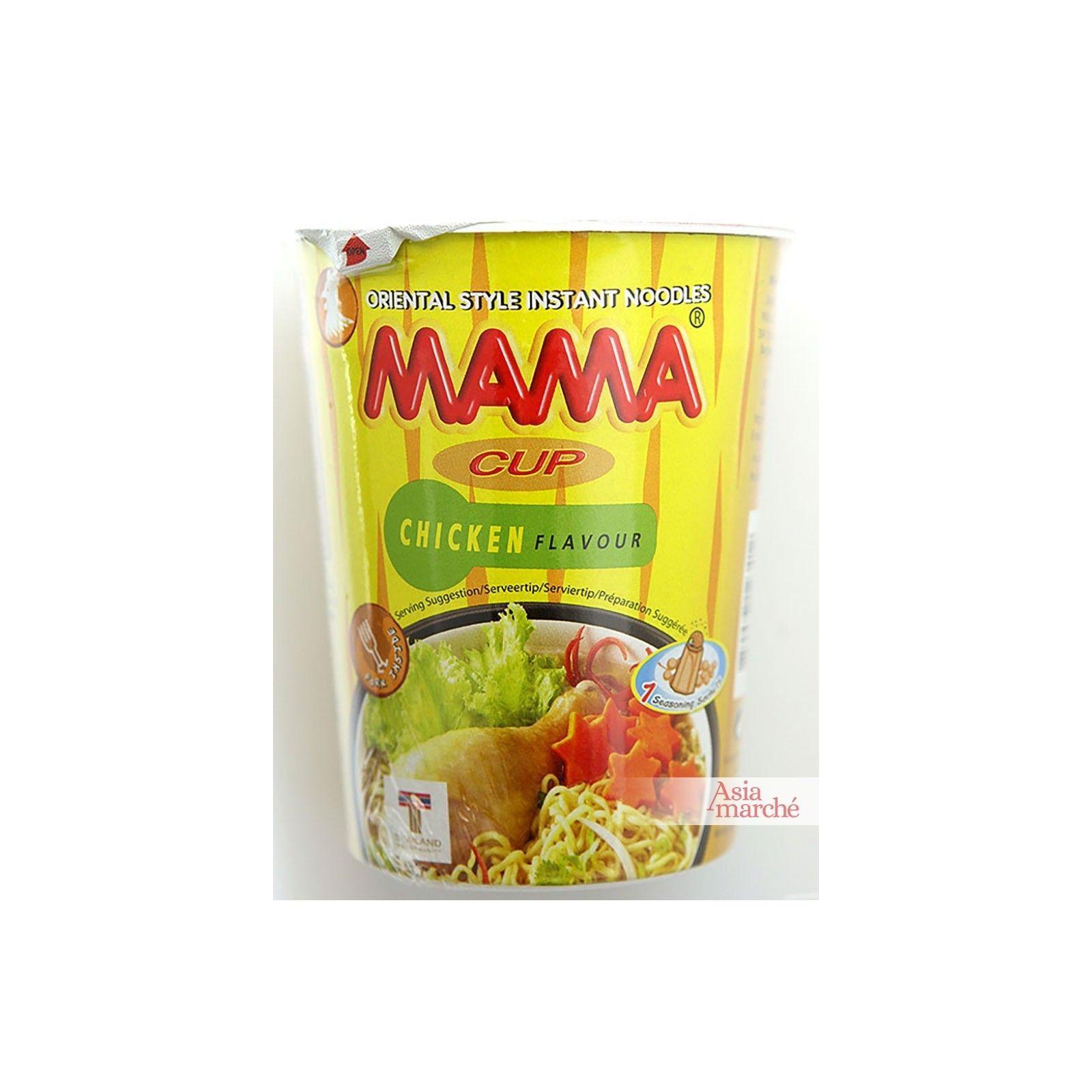 Asia Marché Soupe de nouilles au poulet en bol de 70g Mama