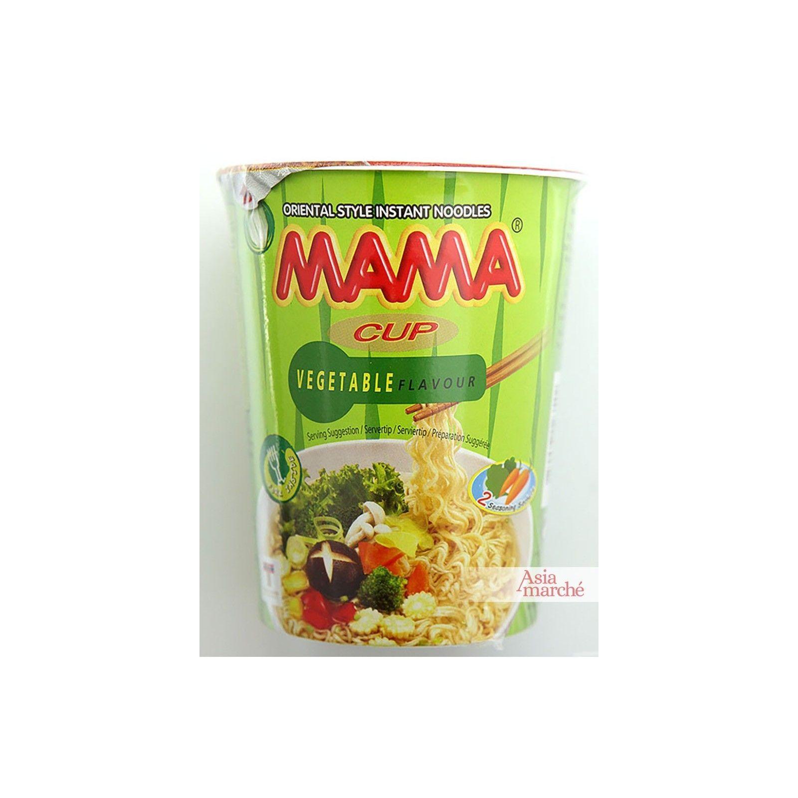 Asia Marché Soupe de nouilles au légumes en bol de 70g Mama