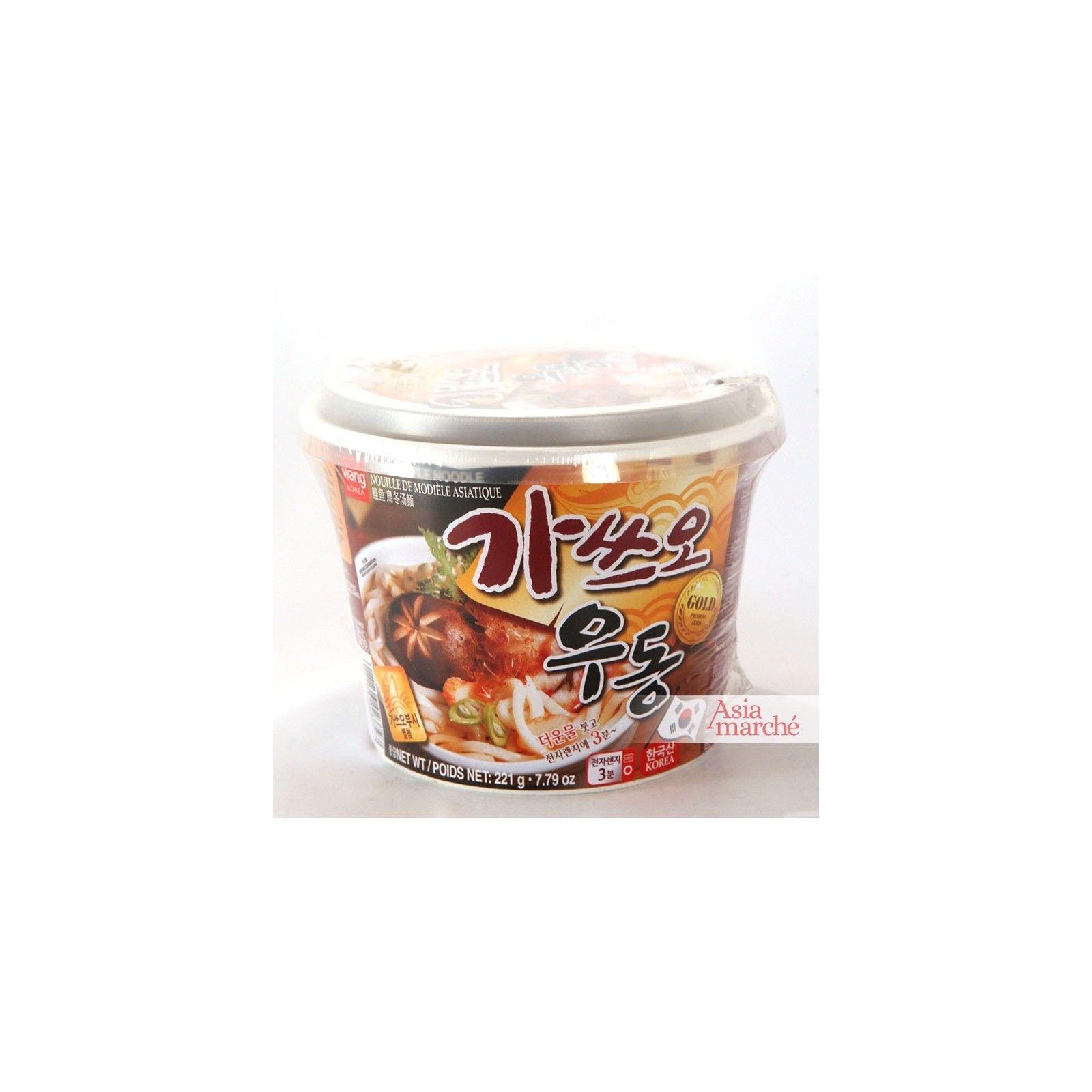 Asia Marché Soupe Udon Katsuo Bonite en bol de 221g Wang