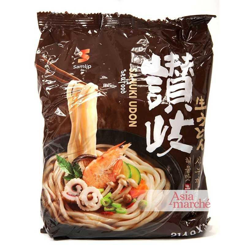 Asia Marché Soupe Sanuki Udon aux fruits de mer 3x224g Samlip À l'unité