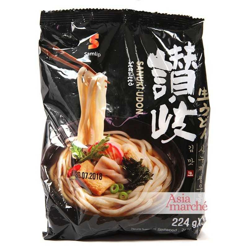Asia Marché Soupe Sanuki Udon aux Algues 3x224g Samlip Lot de 5