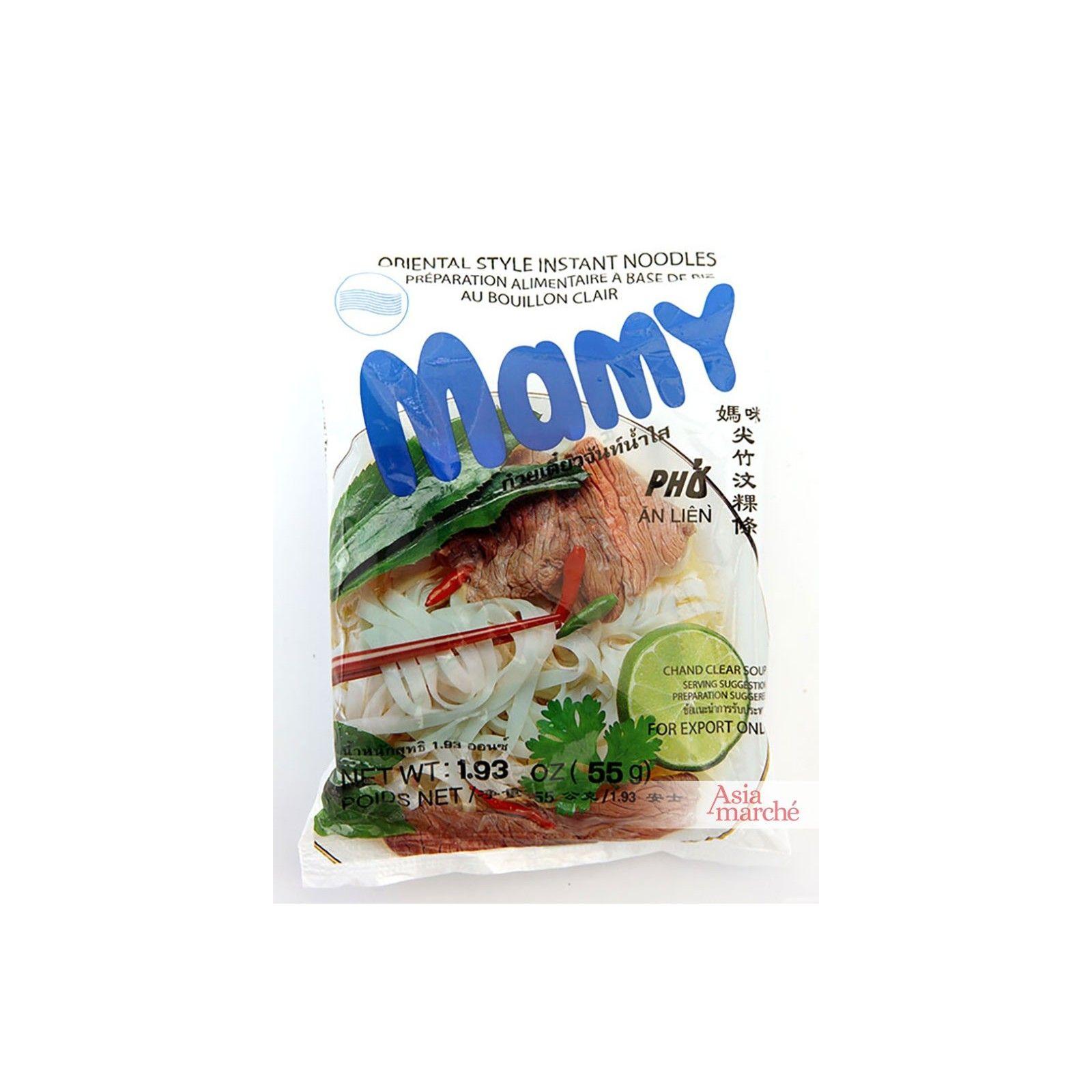 Asia Marché Soupe de pâte de riz au bœuf Pho Mamy 55g Lot de 10