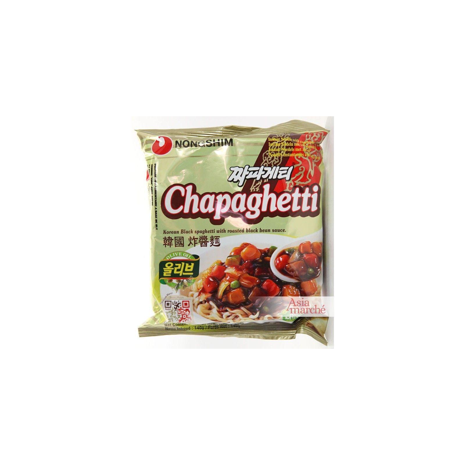 Asia Marché Nouilles Coréennes Chapaghetti 140g Nongshim Lot de 10