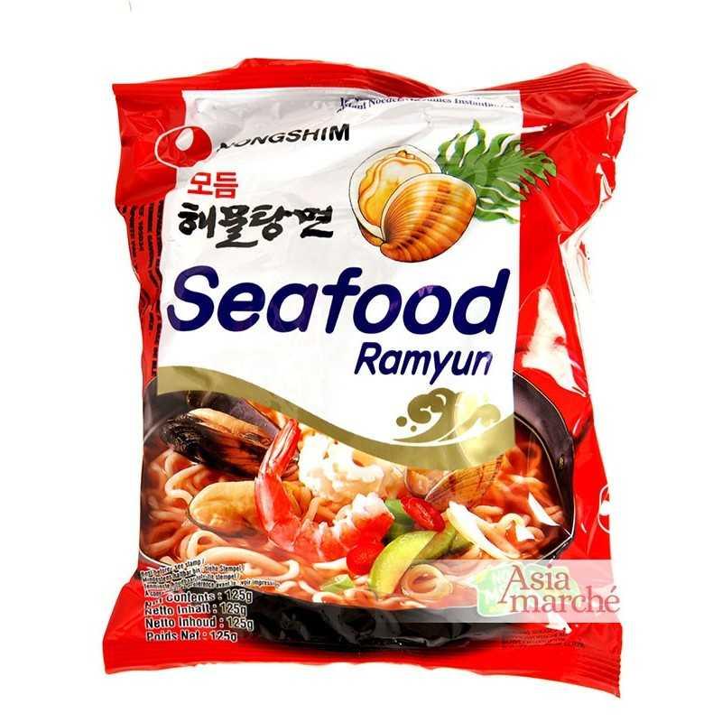 Asia Marché Soupe de nouilles Seafood Ramyun 120g Nongshim Lot de 10