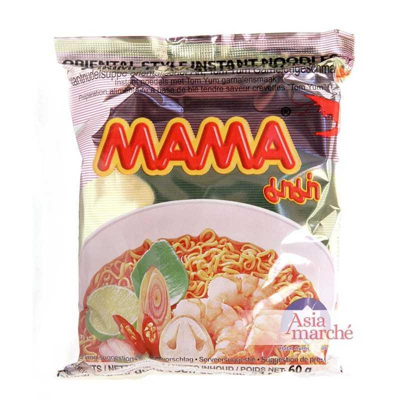 Asia Marché Soupe de nouilles à la crevette piquante 60g Mama Lot de 30