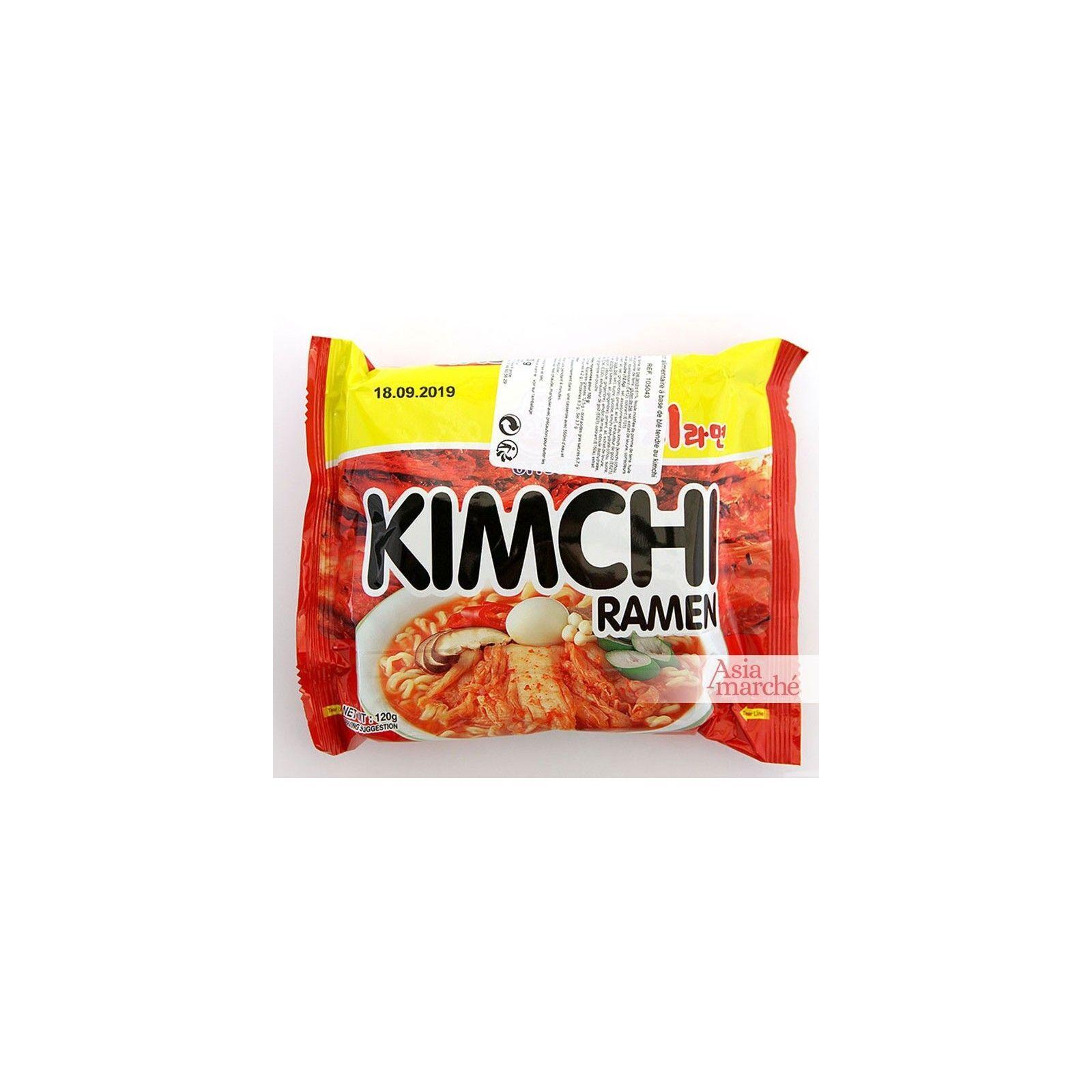 Asia Marché Soupe épicée de nouilles Kimchi 120g Ottogi Lot de 10