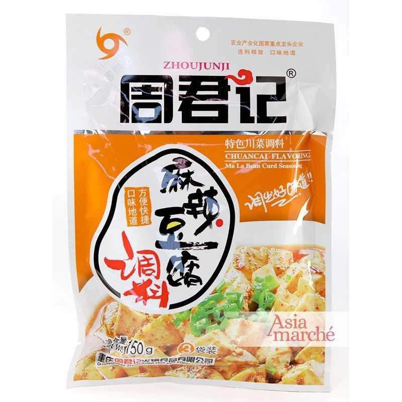 Asia Marché Sauce pour Ma La ( Ma Po ) Tofu 150g Zhoujunji