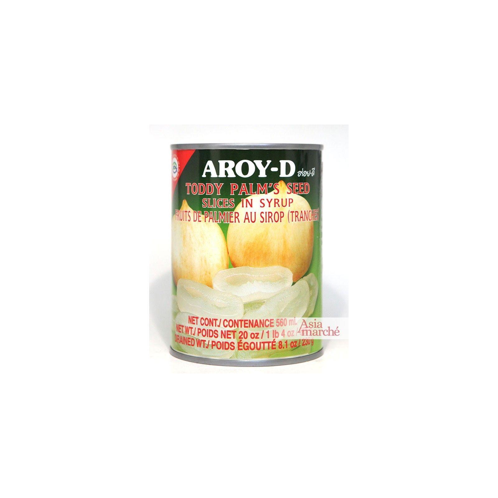 Asia Marché Fruits de Palmier en tranches au sirop 565G Aroy-D