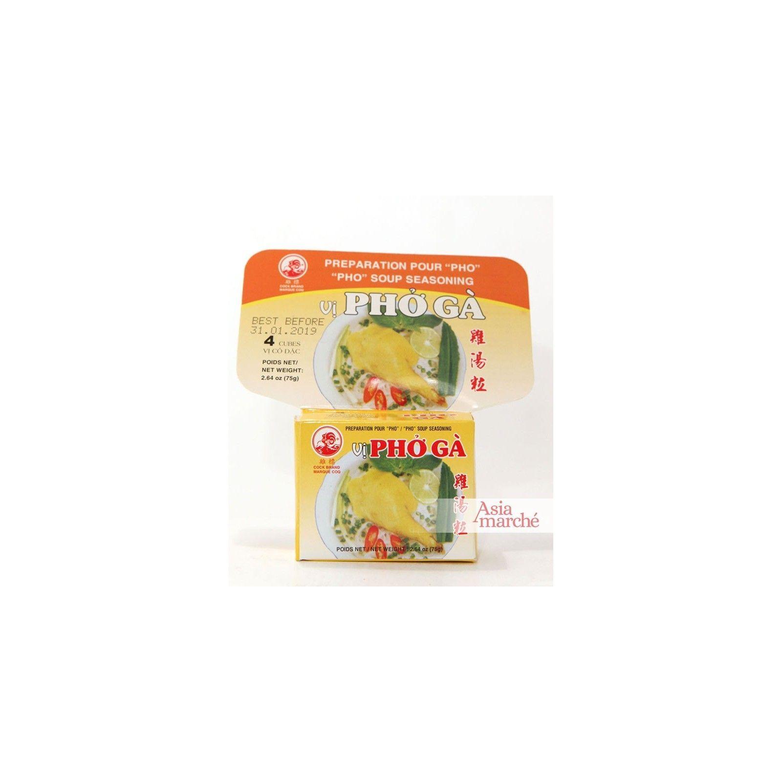 Asia Marché Epices en cube pour Pho Ga Poulet75g