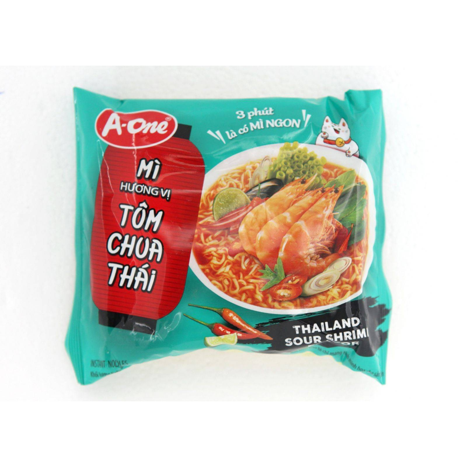 Asia Marché Soupe de nouilles à la crevette piquante 85g A-One Lot de 10