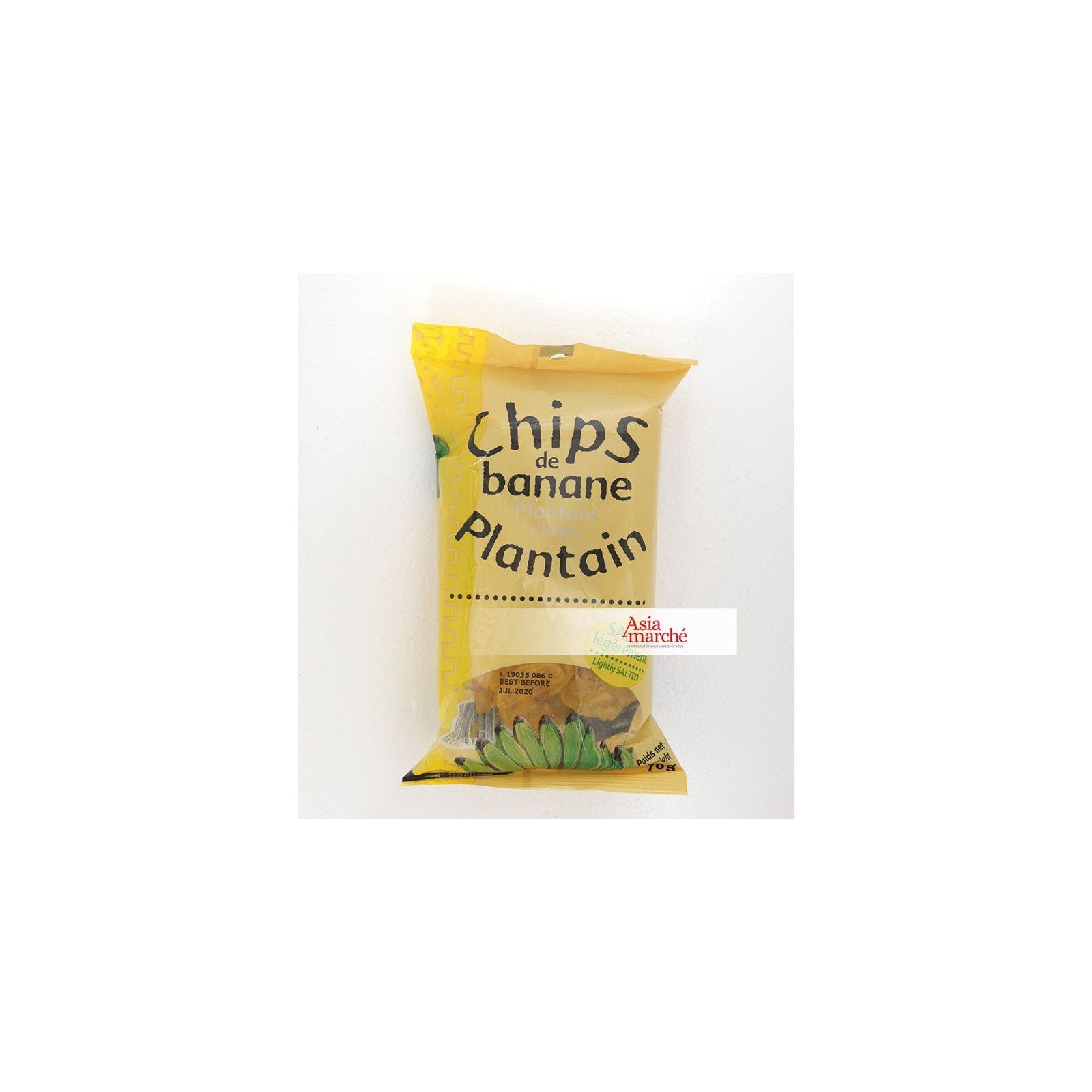 Asia Marché Chips de banane plantain 85g