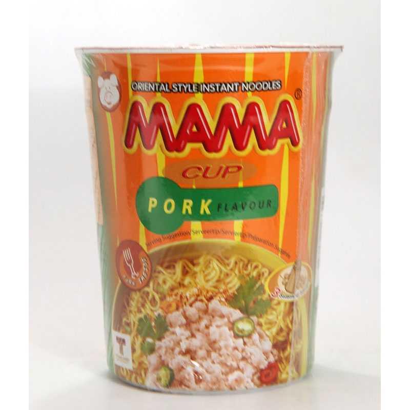Asia Marché Soupe de nouilles au porc en bol de 70g Mama