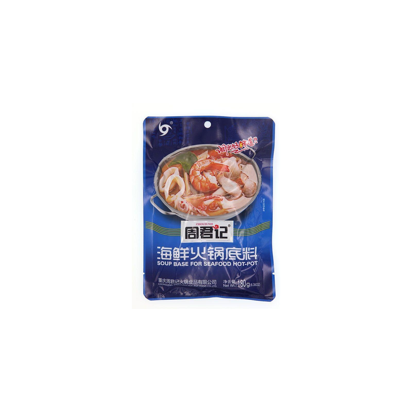 Asia Marché Soupe pour fondue Chinoise arôme fruits de mer 180g Zhoujunji
