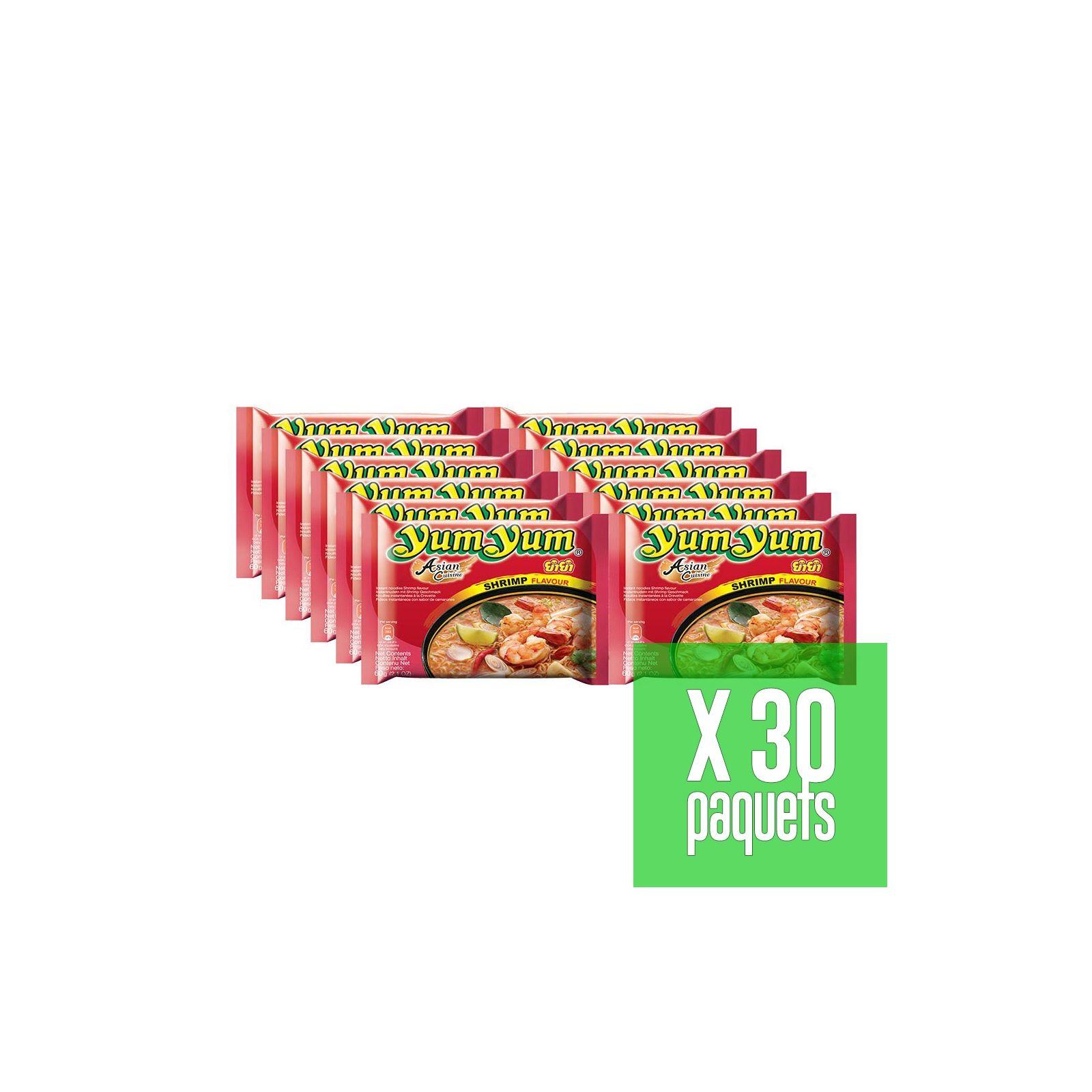 Asia Marché Soupe de nouilles à la crevette 60g YumYum Lot de 30