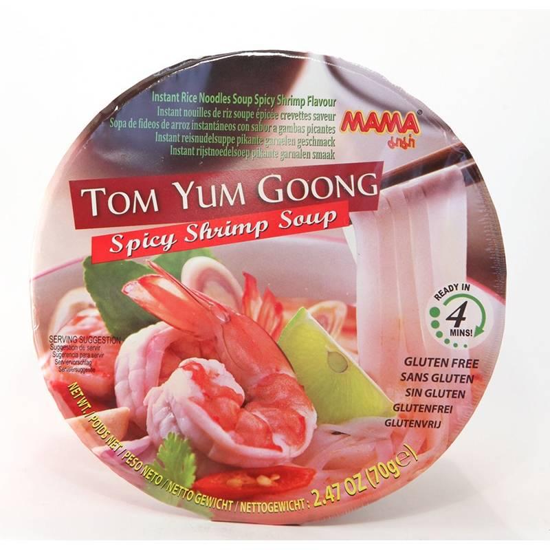 Asia Marché Soupe de pâtes de riz au Tom Yum en bol de 70g Mama