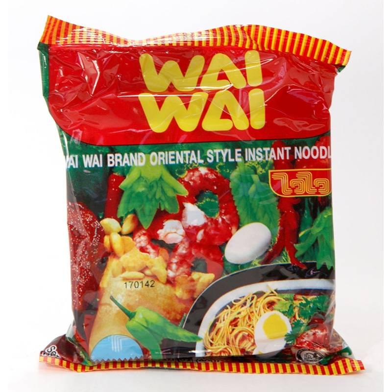 Asia Marché Soupe de nouilles à la crevette Tom Yum 60g Wai Wai Lot de 10