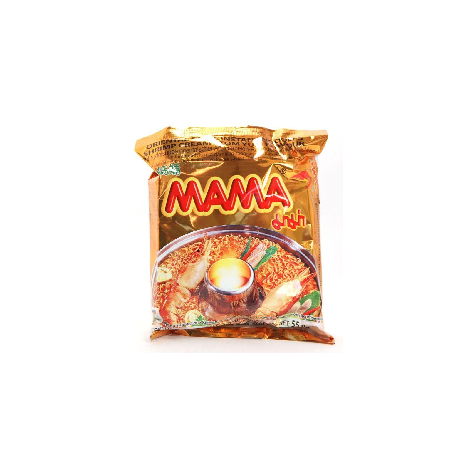 Asia Marché Soupe piquante à la crevette Tom Yum Creamy 55g Mama Lot de 10