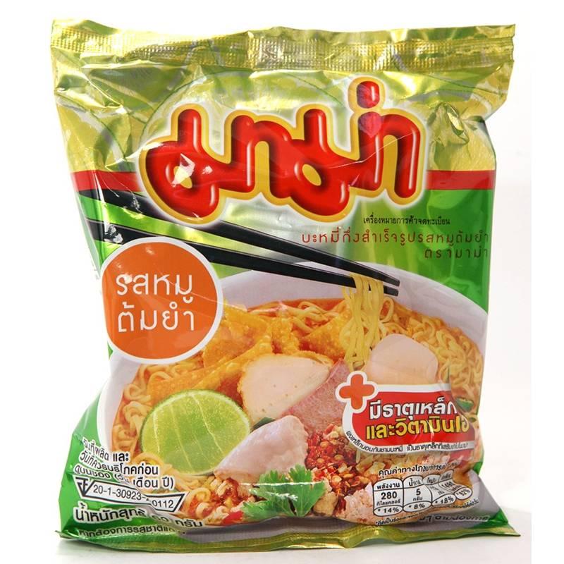 Asia Marché Soupe de nouilles Tom Yum au Porc Mama 55g Lot de 10