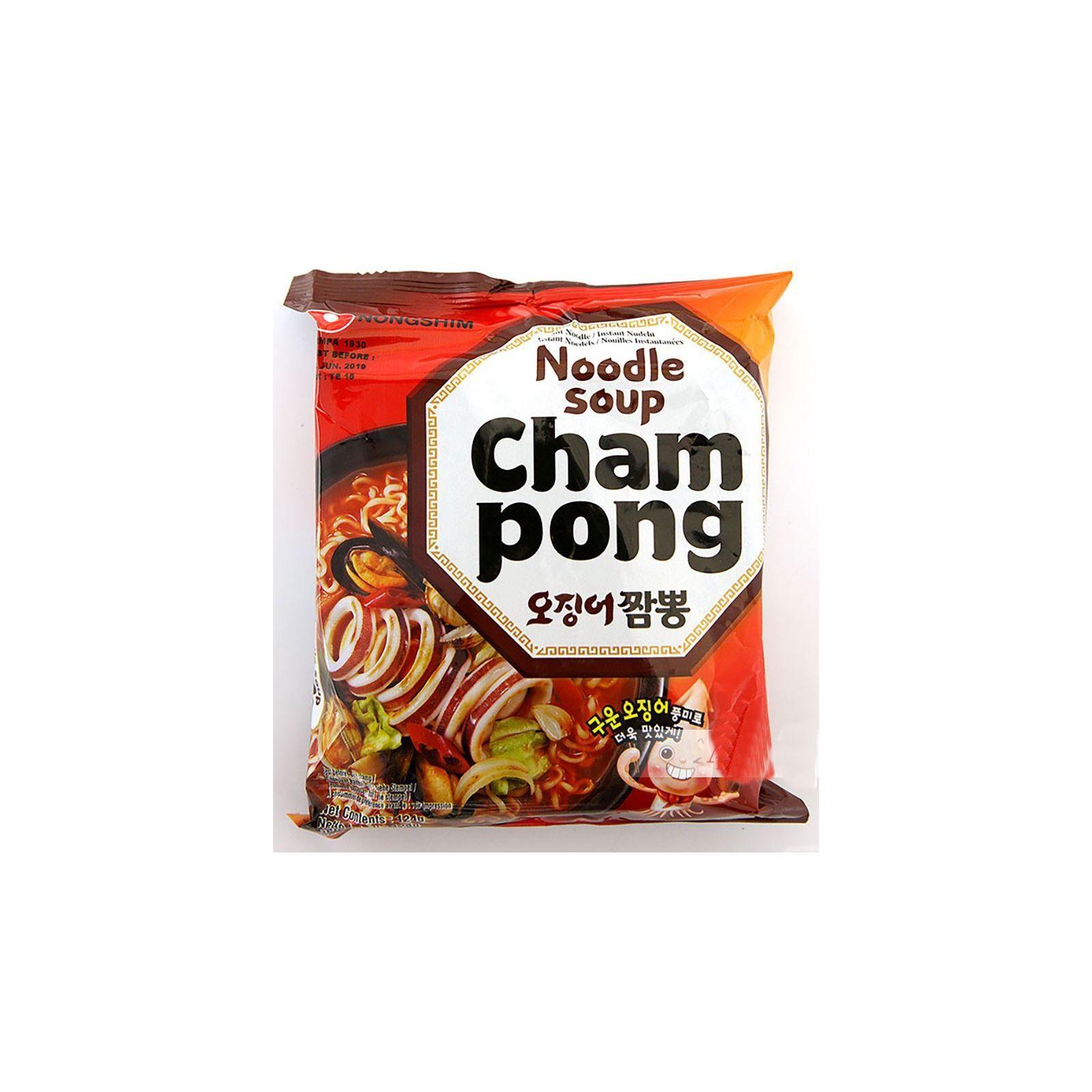 Asia Marché Soupe de nouilles Cham Pong Ramyun 120g Nongshim À l'unité