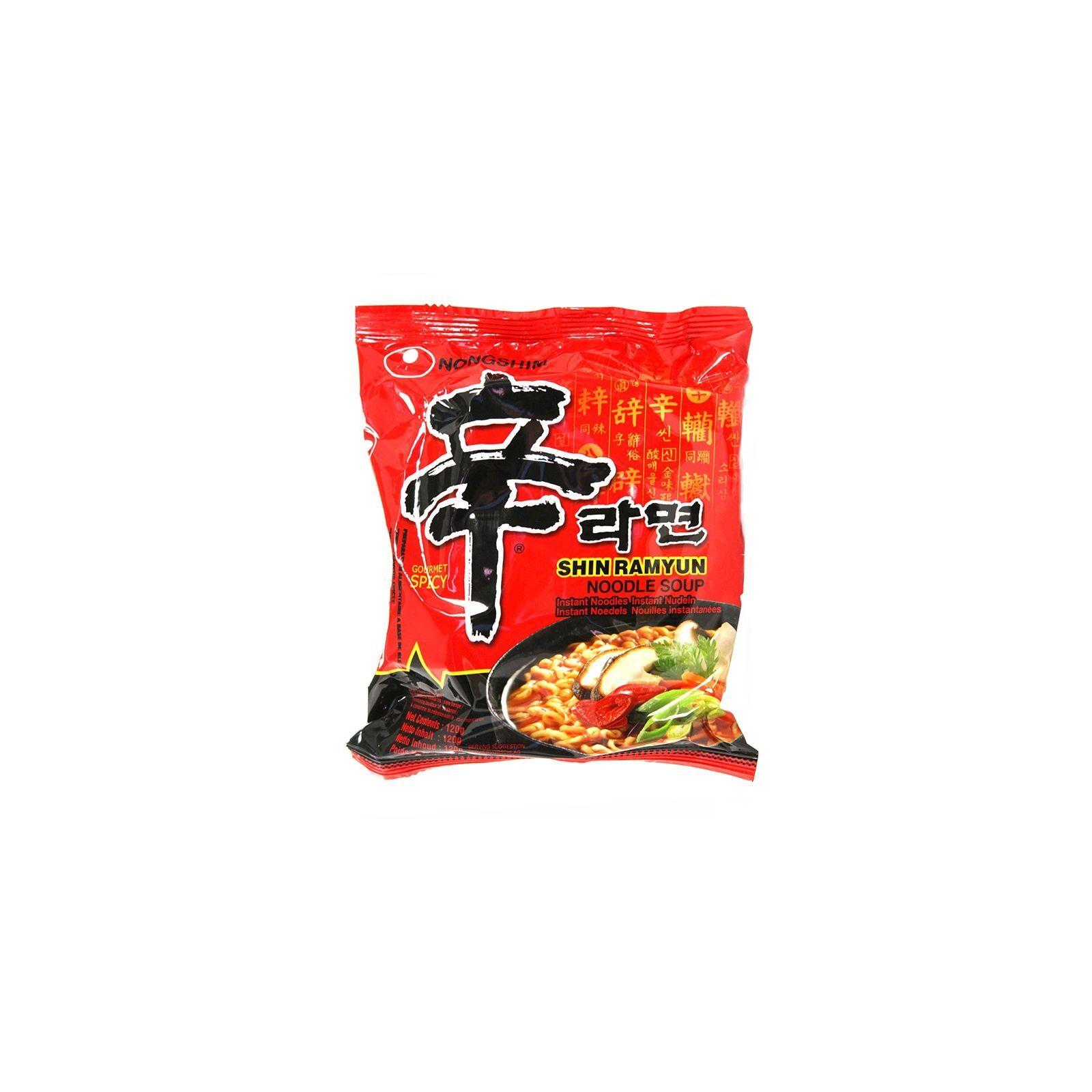 Asia Marché Soupe épicée de nouilles Coréenne 120g Nongshim Lot de 10