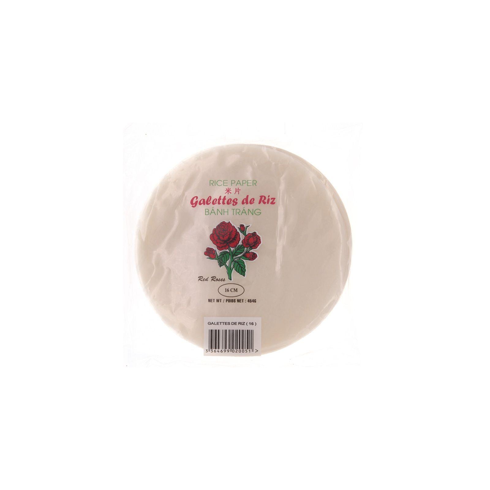 Asia Marché Galettes, Feuilles de riz Red Roses 454g 16cm